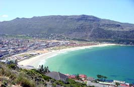 Fish Hoek beach, seen from the hills on the so...
