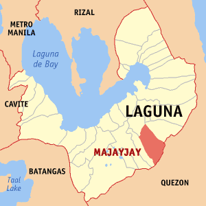 English: Map of Laguna showing the location of...