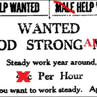 A Newspaper Help Wanted Advertisement
