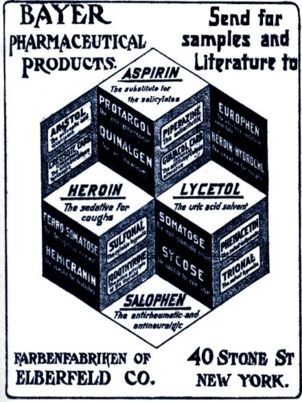 Werbung von Bayer für Heroin
