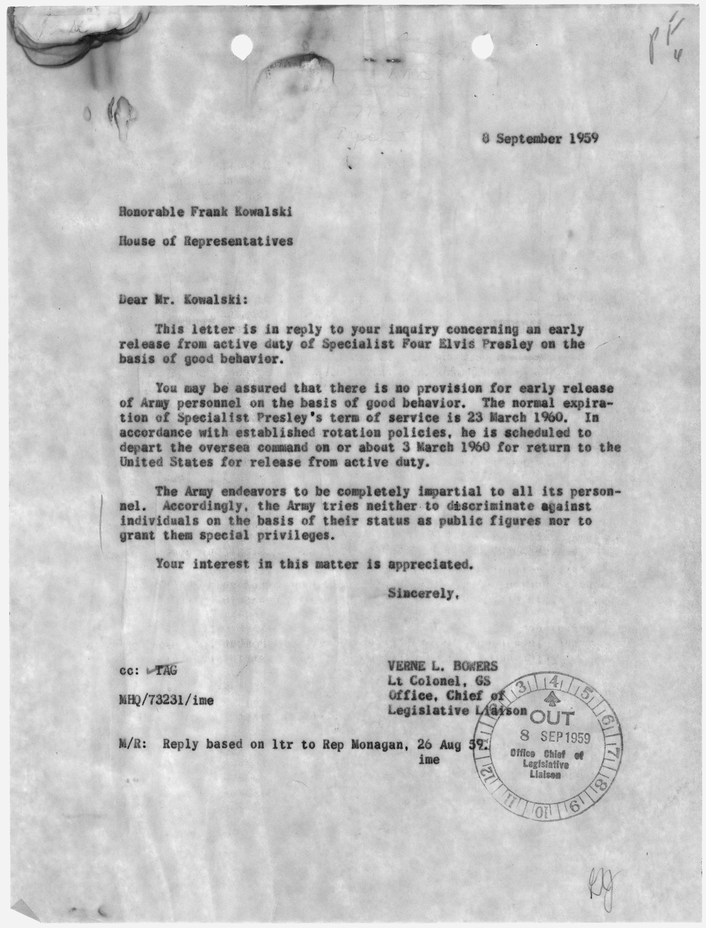 File:Letter from Lt Colonel Verne L. Bowers to the