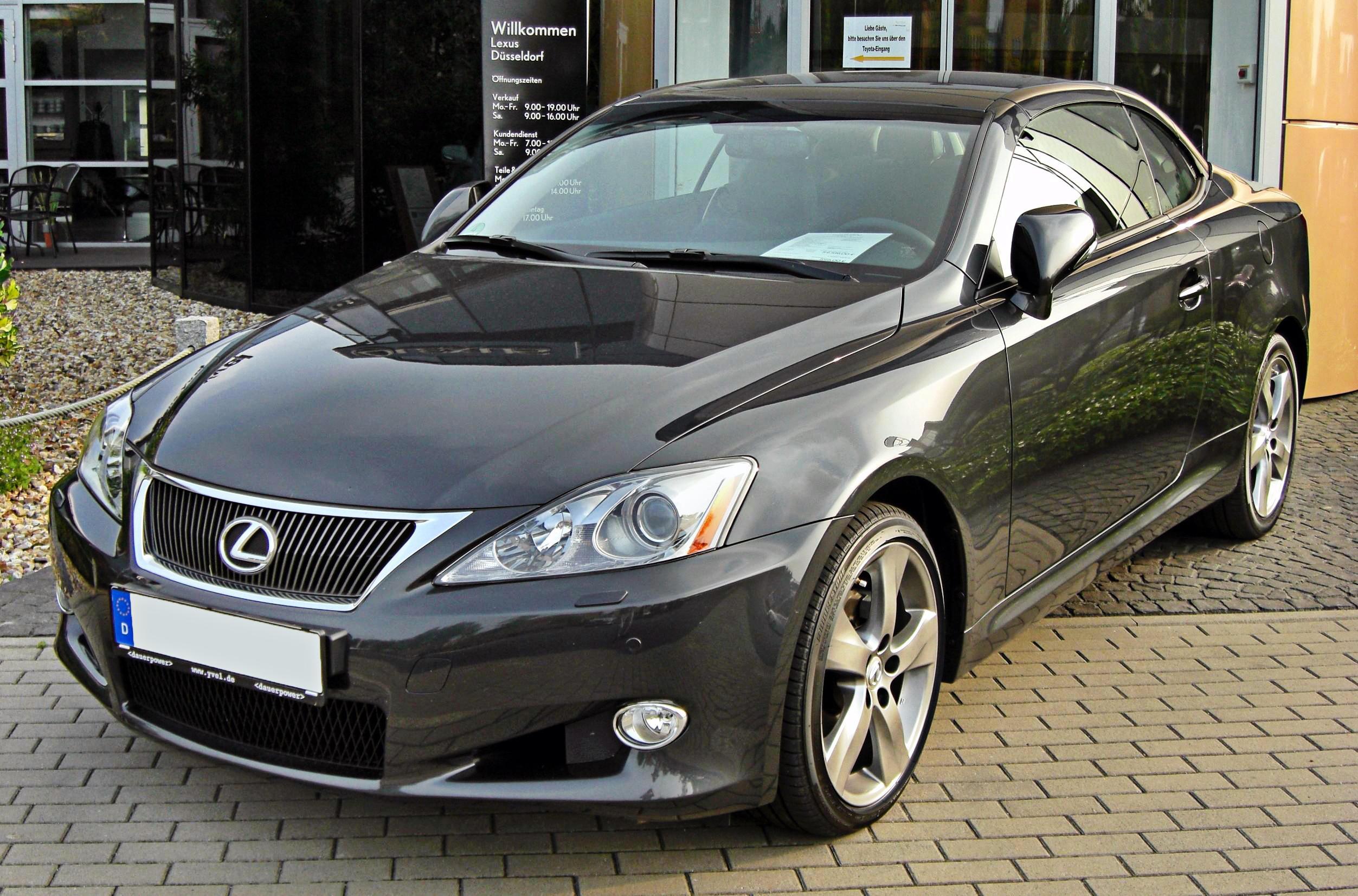 File Lexus IS 250 C front JPG Wikimedia mons