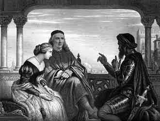 Othello Relating His Adventures - Steel engrav...