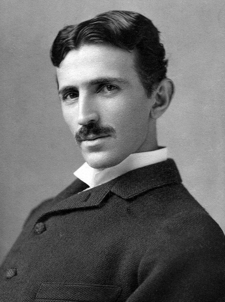 Retrato de Nicolás Tesla (ca. 1890) Fuente. wikimedia.org