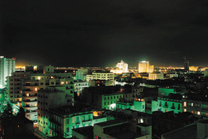 A summer night in Tunis