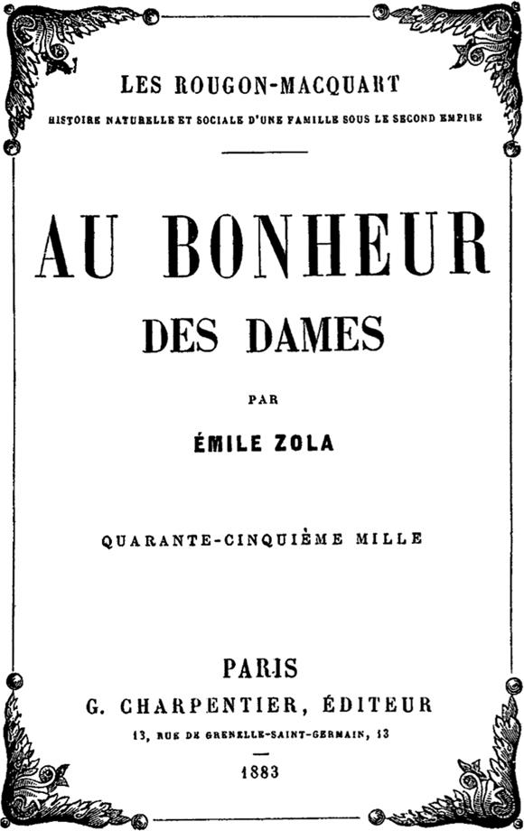 Au Bonheur Des Dames Magasin : bonheur, dames, magasin, Bonheur, Dames, Wikipédia