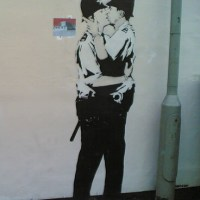 Kissing Policemen - Banksy