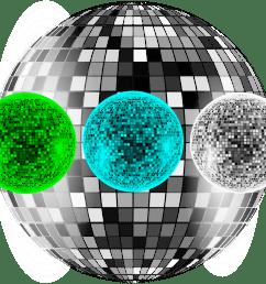 file disco balls png [ 2400 x 2155 Pixel ]