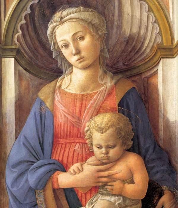 File Fra Filippo Lippi - Madonna And Child Detail