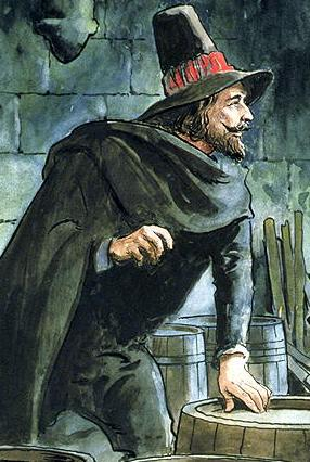 Guy Fawkes, from 'Peeps into the Past'