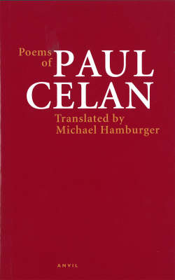 "English: Book cover: ""Poems of Paul Celan..."