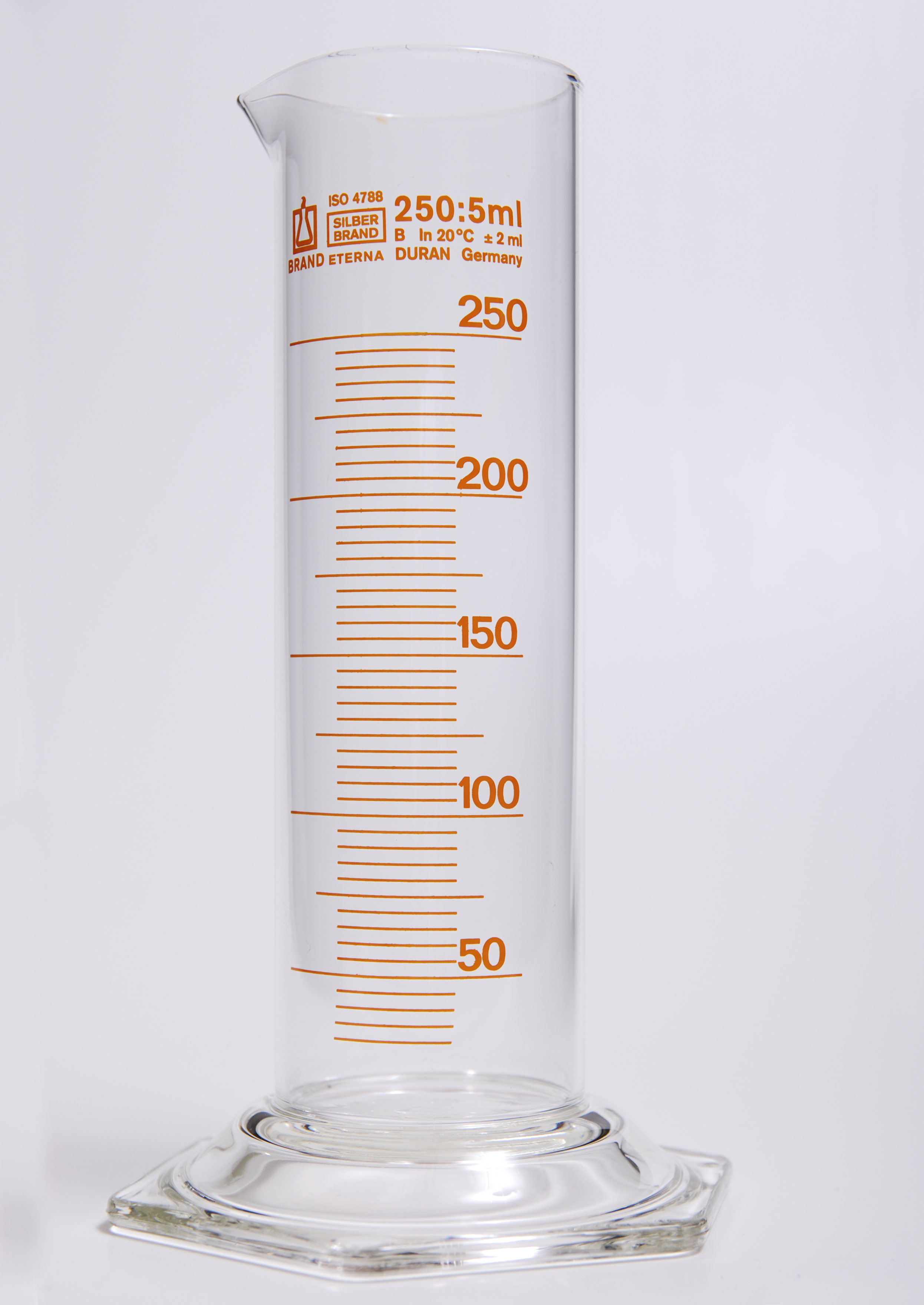 File Glass Graduated Cylinder 250ml 1