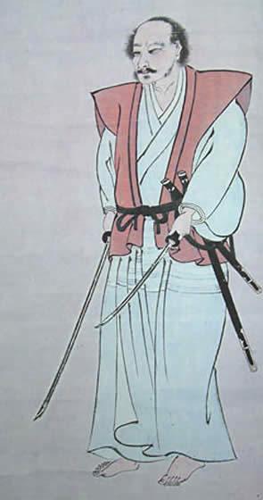 Miyamoto Musashi, self-portrait
