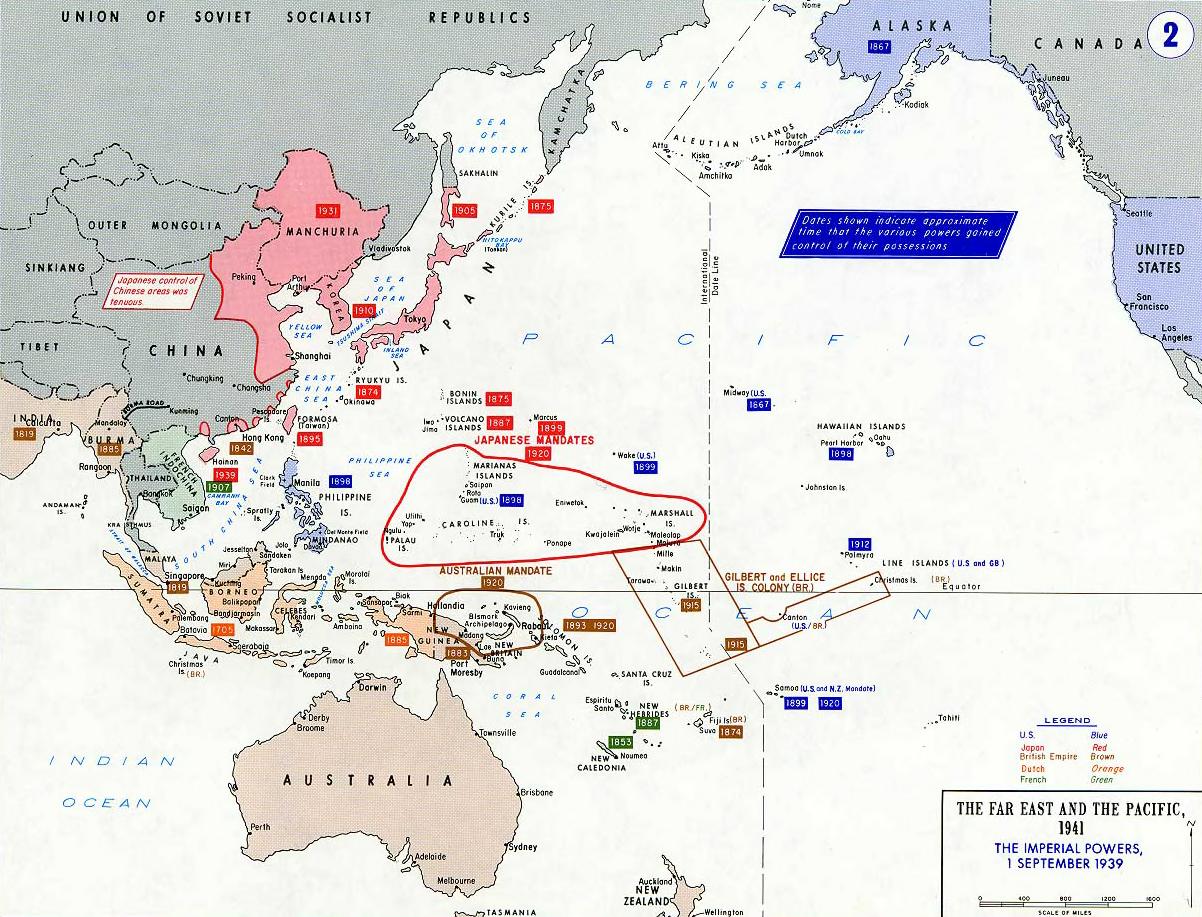 L'Asie et l'Océanie en 1939 - Wikicommons