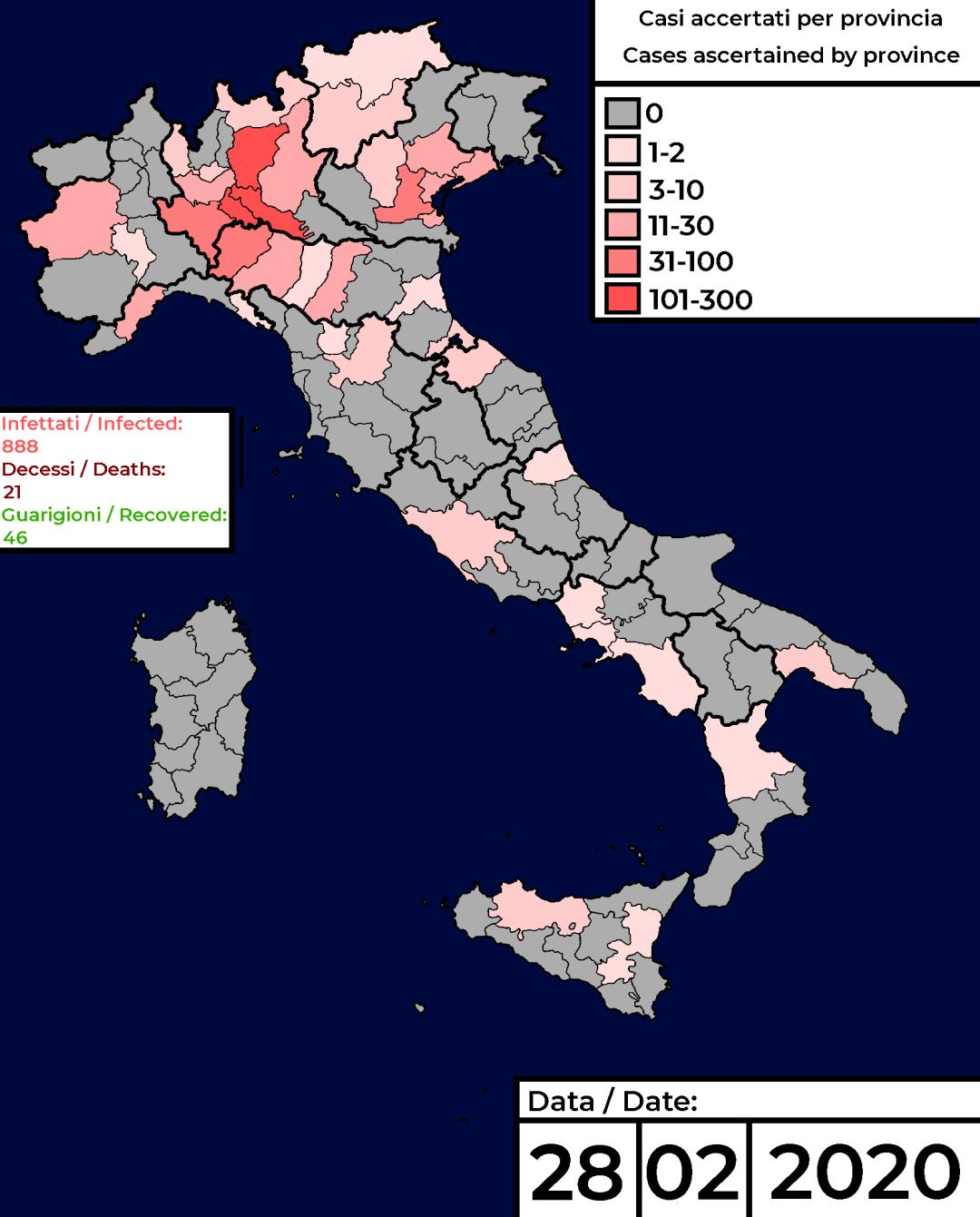 """É emergenza """"Coronavirus"""" anche in Italia"""