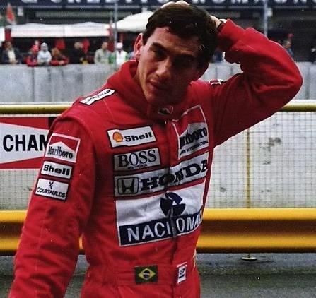 Ayrton Senna at Imola in 1989 from WikiPedia