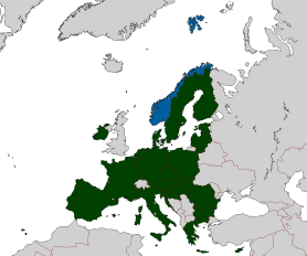 Norway and the European Union area. Image: Wikimedia