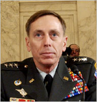 English: General David Petraeus in testimony