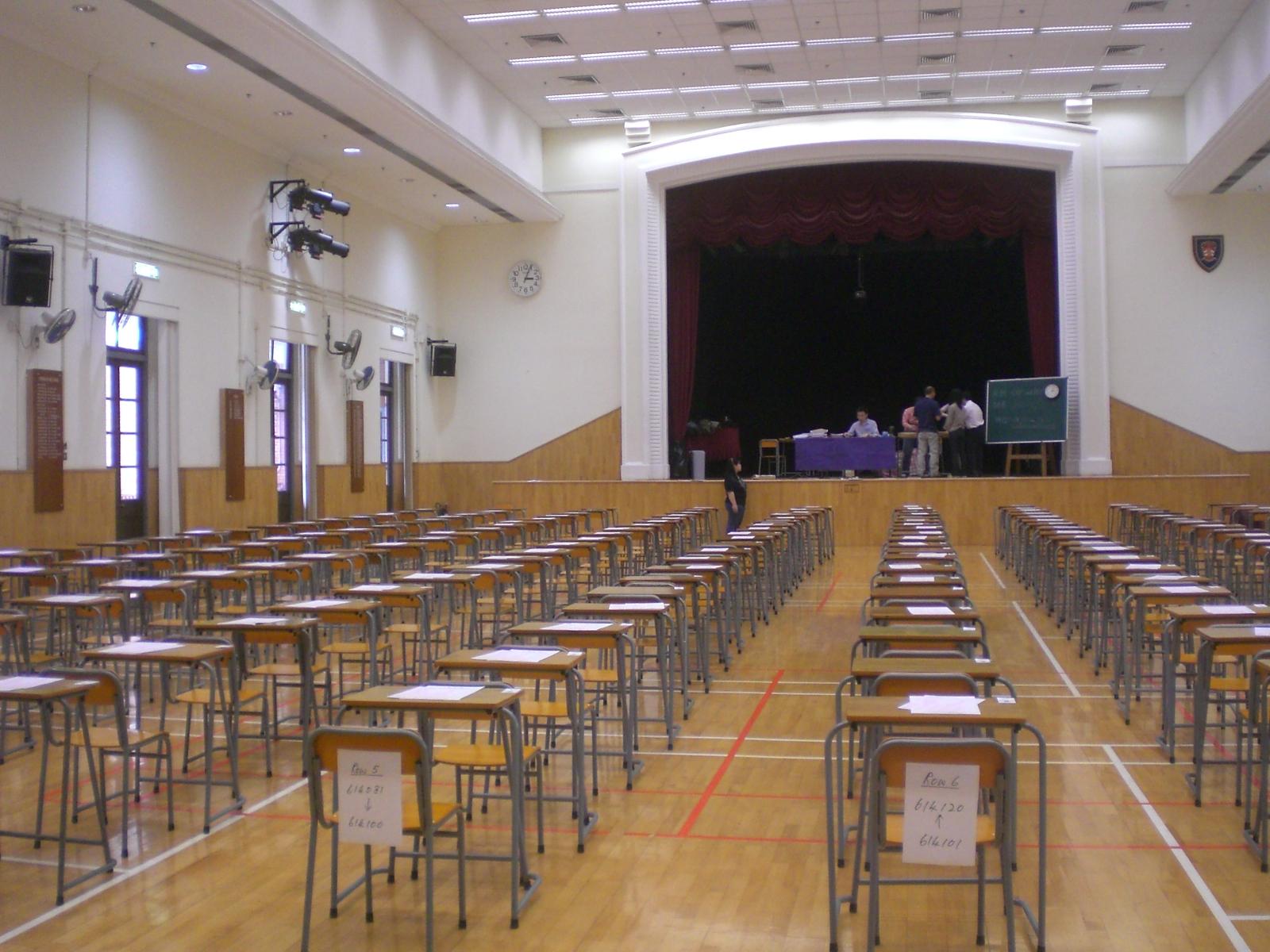 UK exam hall