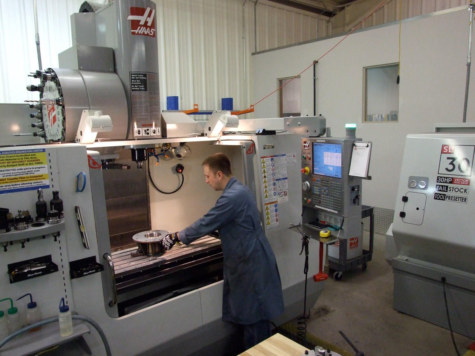 hight resolution of machine shop