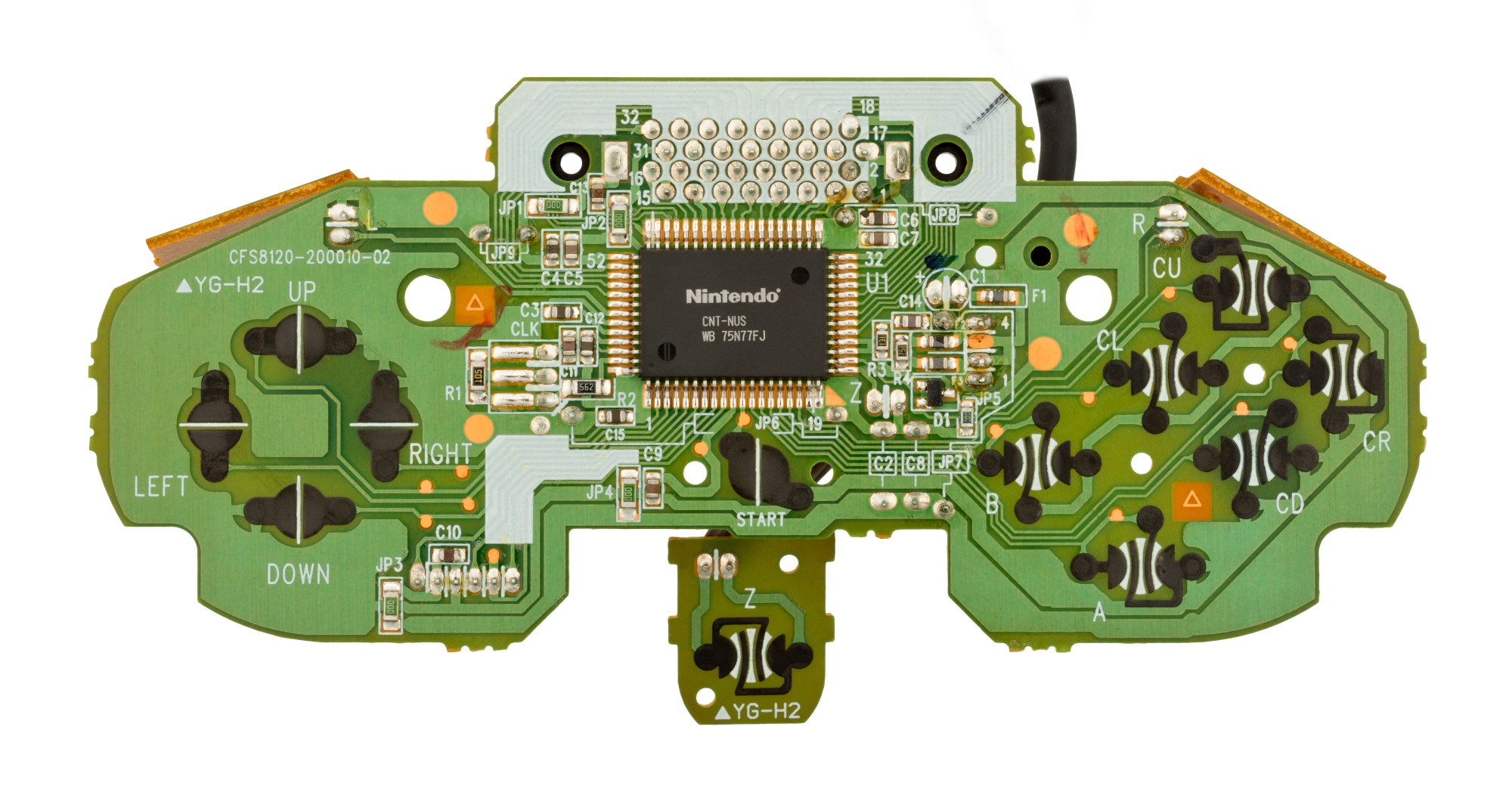 hight resolution of the motherboard for the n64