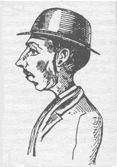 Mapleton in a police composite drawing from 1881