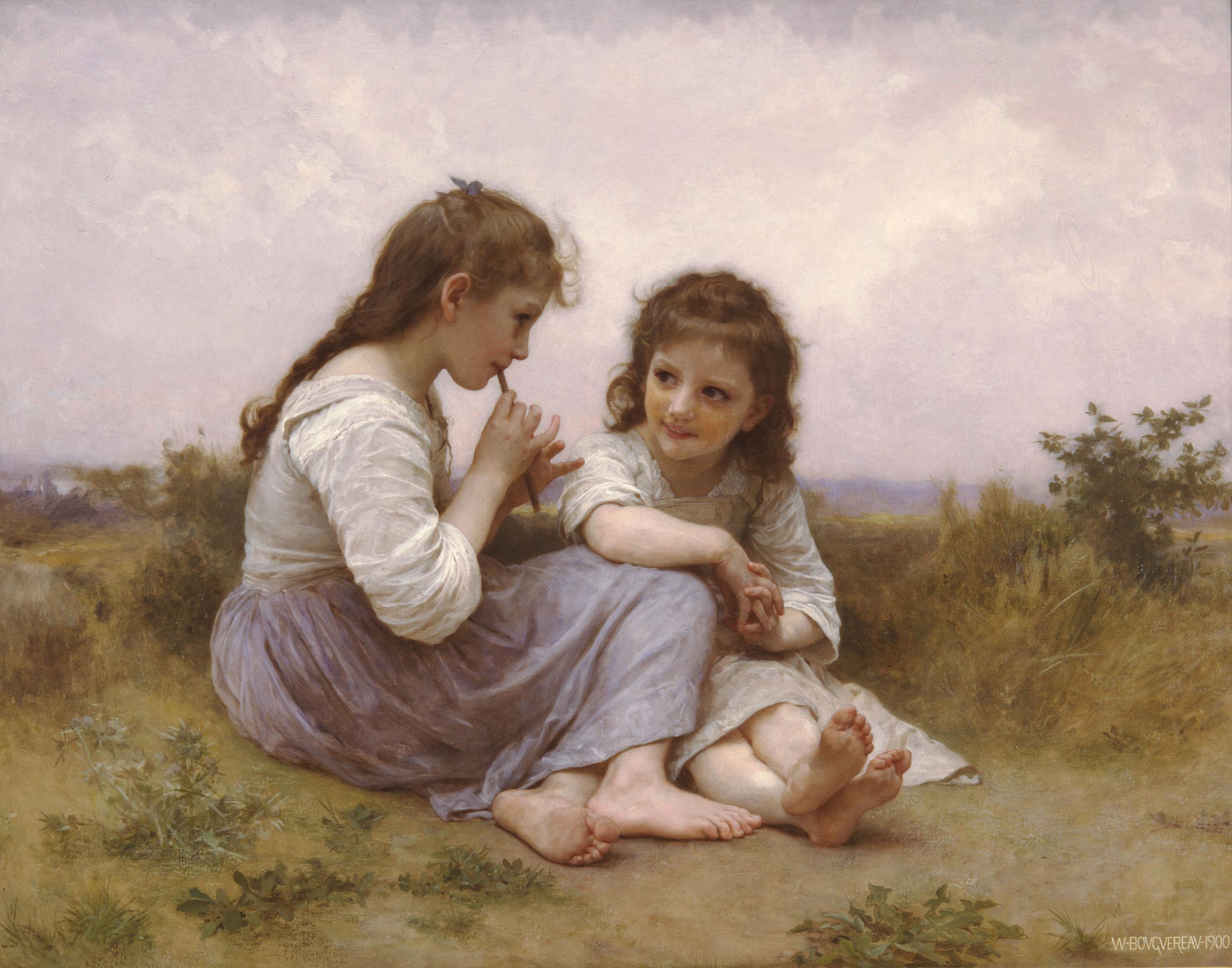 Childhood Idyll by William-Adolphe Bouguereau