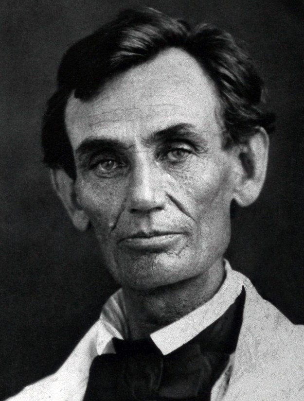 Ambrotype of Abraham Lincoln May 7th 1858 by Abraham Byers