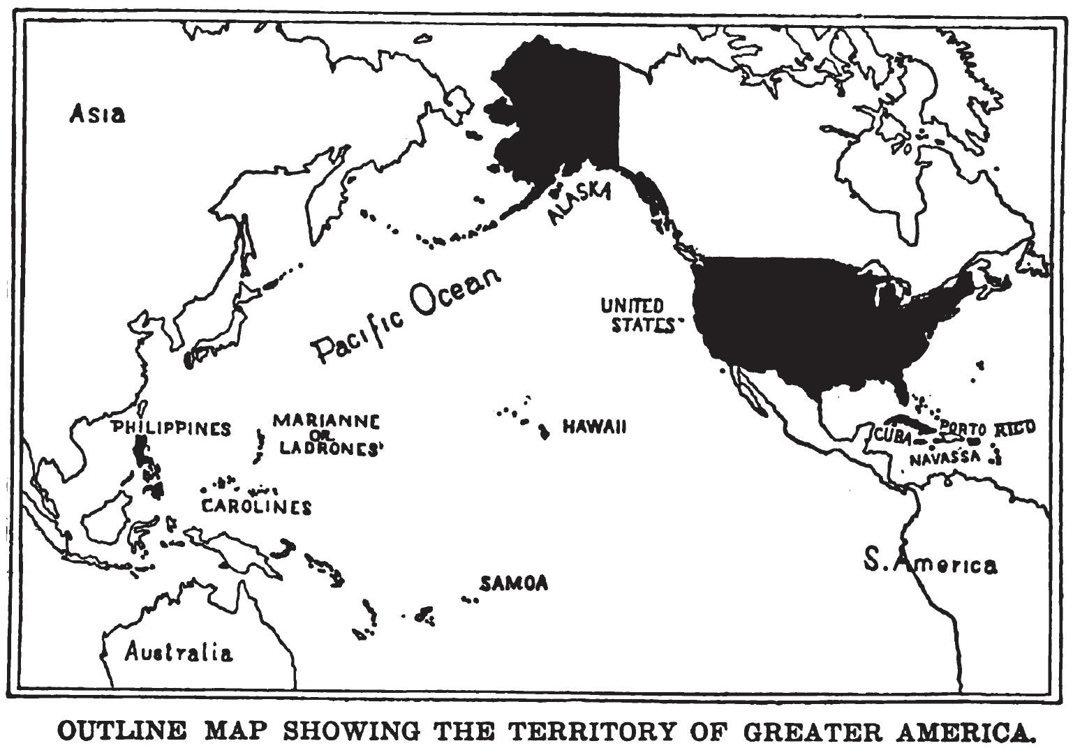 Todos los mapas del mundo: Mapa de 1899 de territorios y