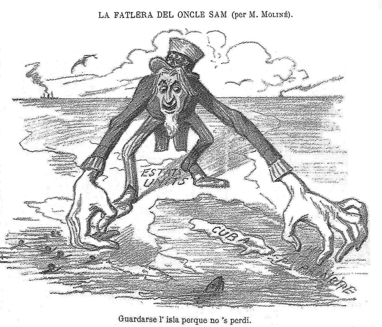 Geopolitical Cartoons: Depictions of the Spanish-American