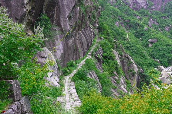 A path up a mountainside