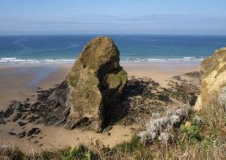 Flory Island, Black Humphrey Rock: Filorey, Porth, Newquay, Cornwall