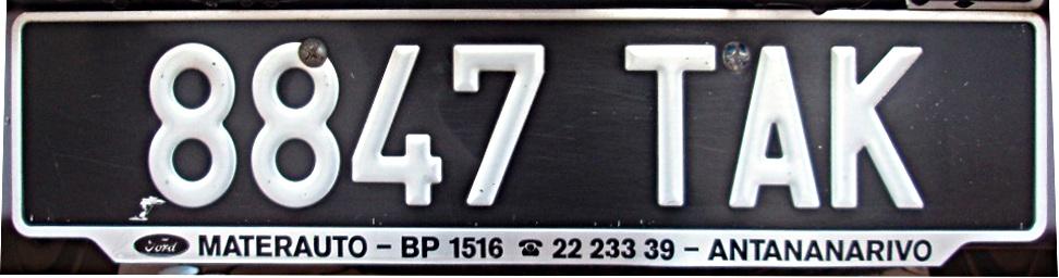 Vehicle Registration Plates Of Madagascar Wikipedia