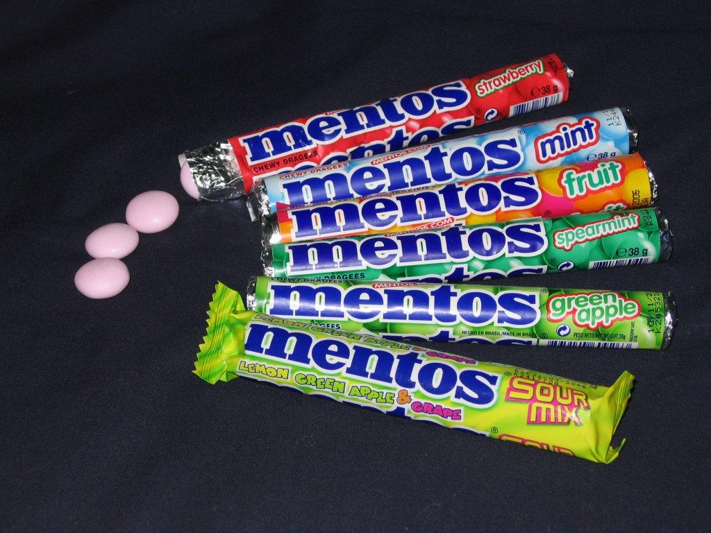 rolls of Mentos