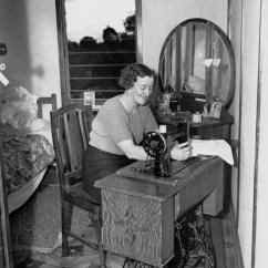 8 Chair Table Size Dxracer Cushion File:statelibqld 1 101812 Woman Seated At A Singer Treadle Sewing Machine, Rocklea, 1944.jpg ...