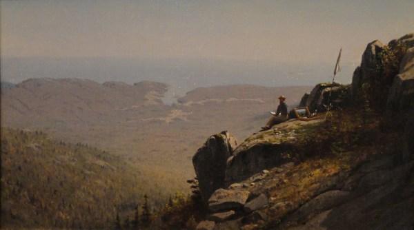 File Artist Sketching Mount Desert Maine