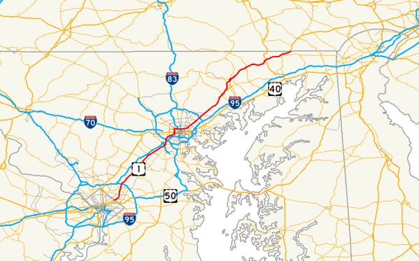 US Route 1 in Maryland Wikipedia