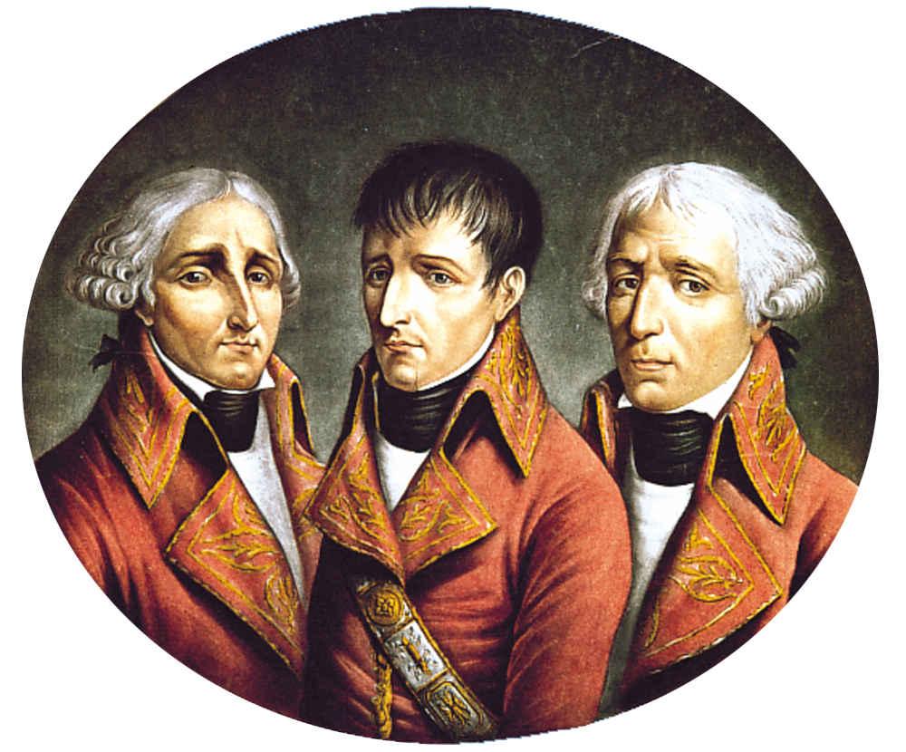 The Three French Consuls (Jean-Jacques Régis de Cambacérès, Napoléon Bonaparte, Charles-François Lebrun).