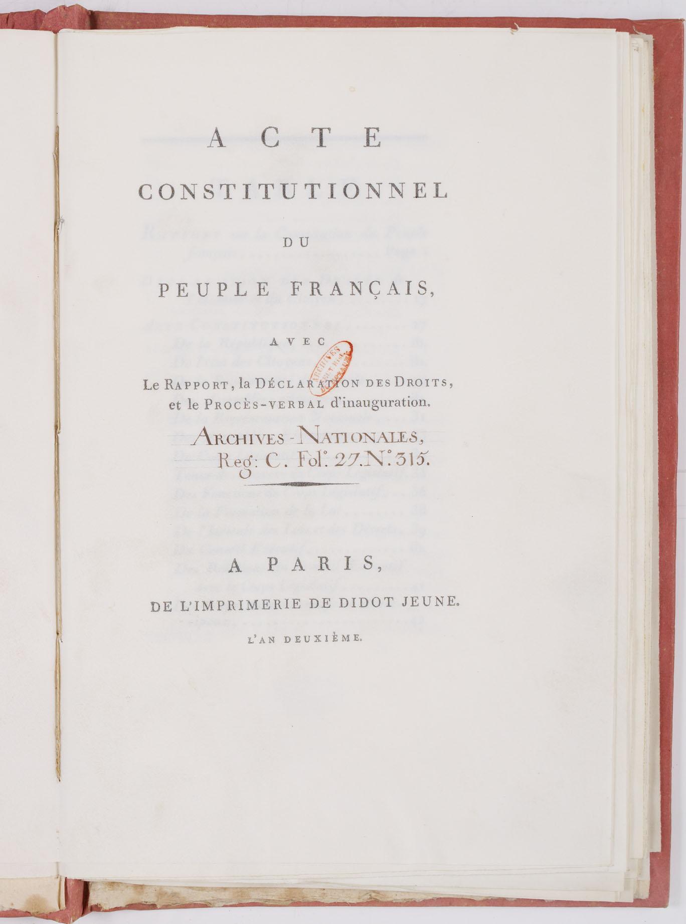 Constitution Du 24 Juin 1793 : constitution, Француски, устав, (1793), Wikiwand