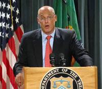 Español: El Secretario del Tesoro de los Estad...