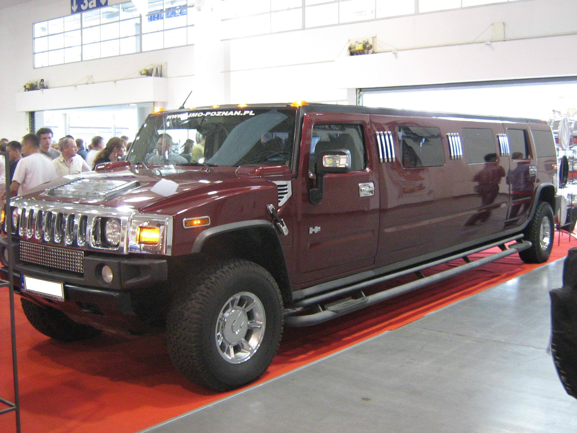 File Hummer H2 Limo front PSM 2009 Wikimedia mons