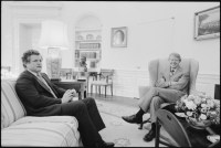 File:Jimmy Carter meets with Senator Edward Kennedy in the ...