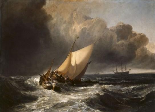 Joseph Mallord William Turner - Bateau hollandais dans la tempête