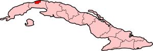 Position of Havana in Cuba