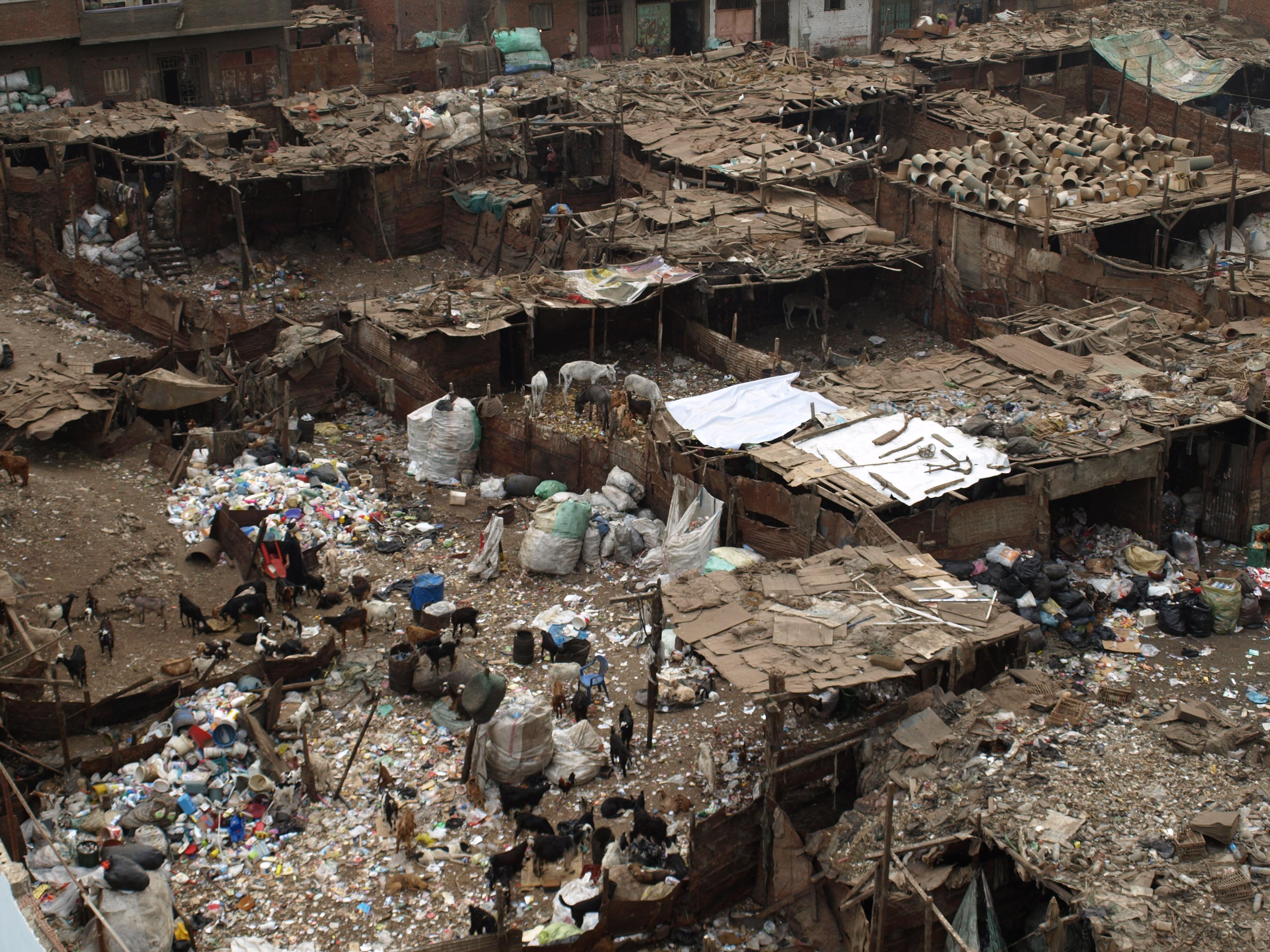Müllgebiet Ezbet Al Nakhl in Kairo