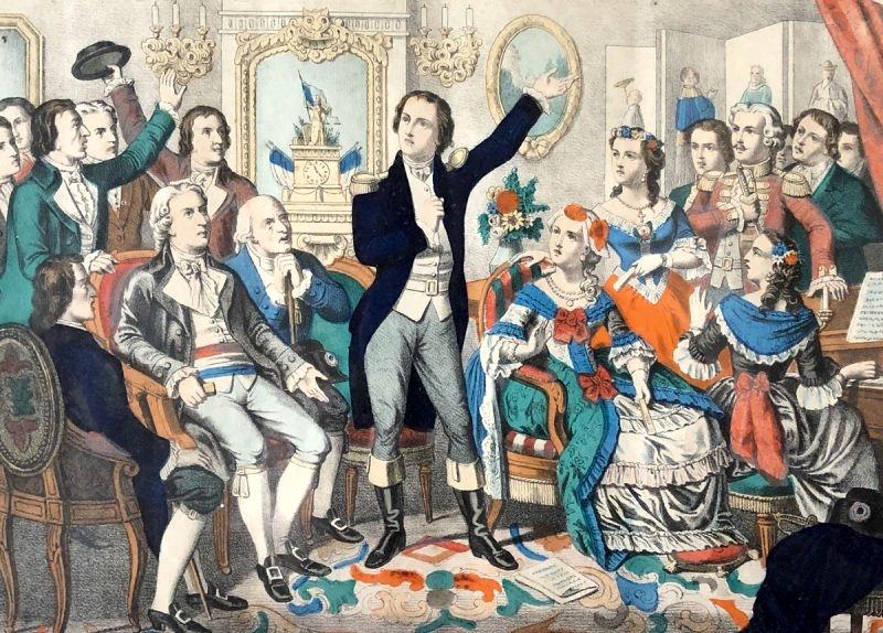 Rouget de Lisle canta La Marsellesa por primera vez