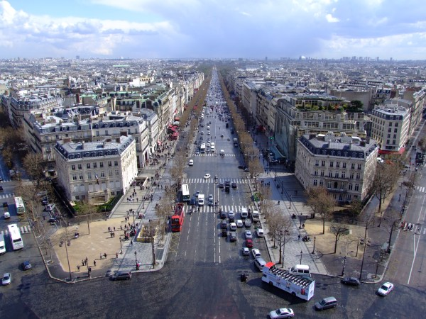 File Avenue Des Champs-elysees Arc De Triomphe - Wikimedia Commons