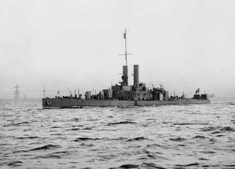 HMS Cockchafer underway, probably WW2