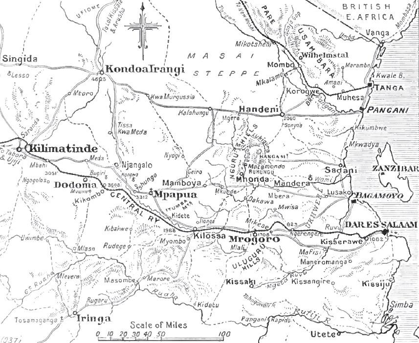 File:Map of Dar es Salaam hinterland, East African