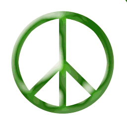 A peace symbol, originally designed by the Bri...